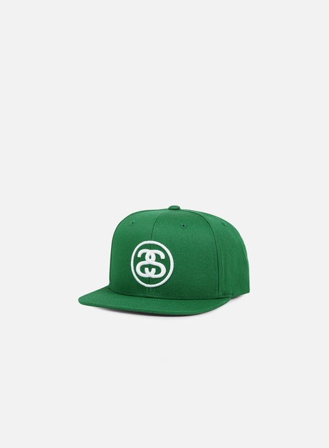cappellini stussy ss link snapback kelly white