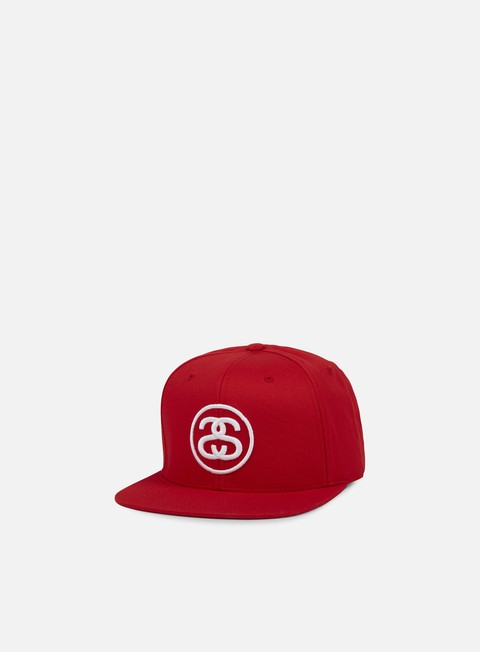 cappellini stussy ss link snapback red white