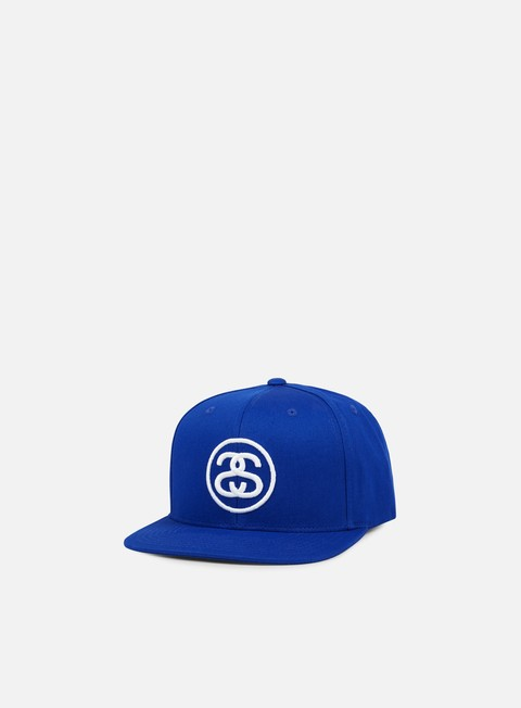 cappellini stussy ss link snapback royal blue white