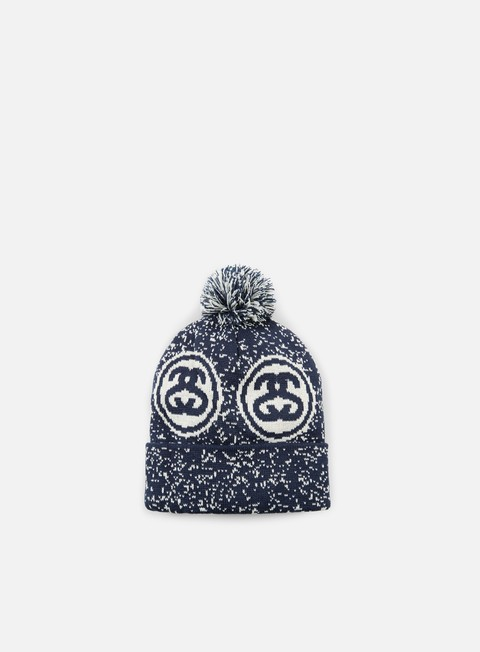 cappellini stussy ss links pom pom beanie blue heather