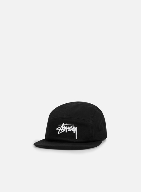 cappellini stussy stock camp cap black