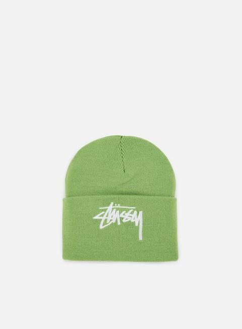 cappellini stussy stock cuff beanie green