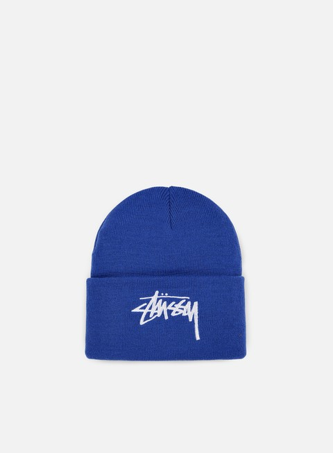 cappellini stussy stock cuff beanie navy