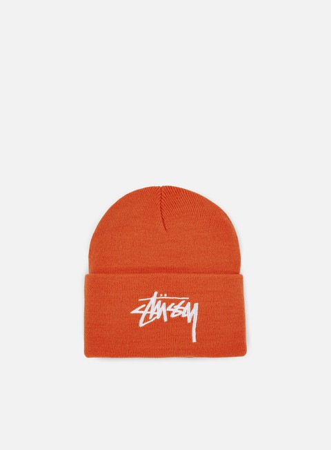 cappellini stussy stock cuff beanie orange