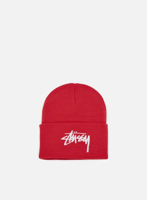 cappellini stussy stock cuff beanie pink