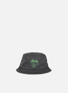 Stussy - Stock Lock Pigment Dye Bucket Hat, Black 1