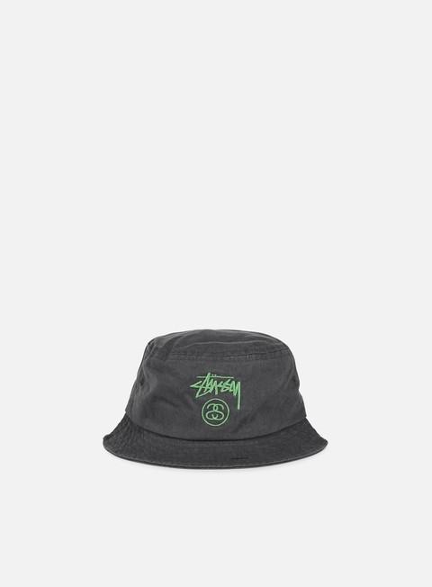 cappellini stussy stock lock pigment dye bucket hat black
