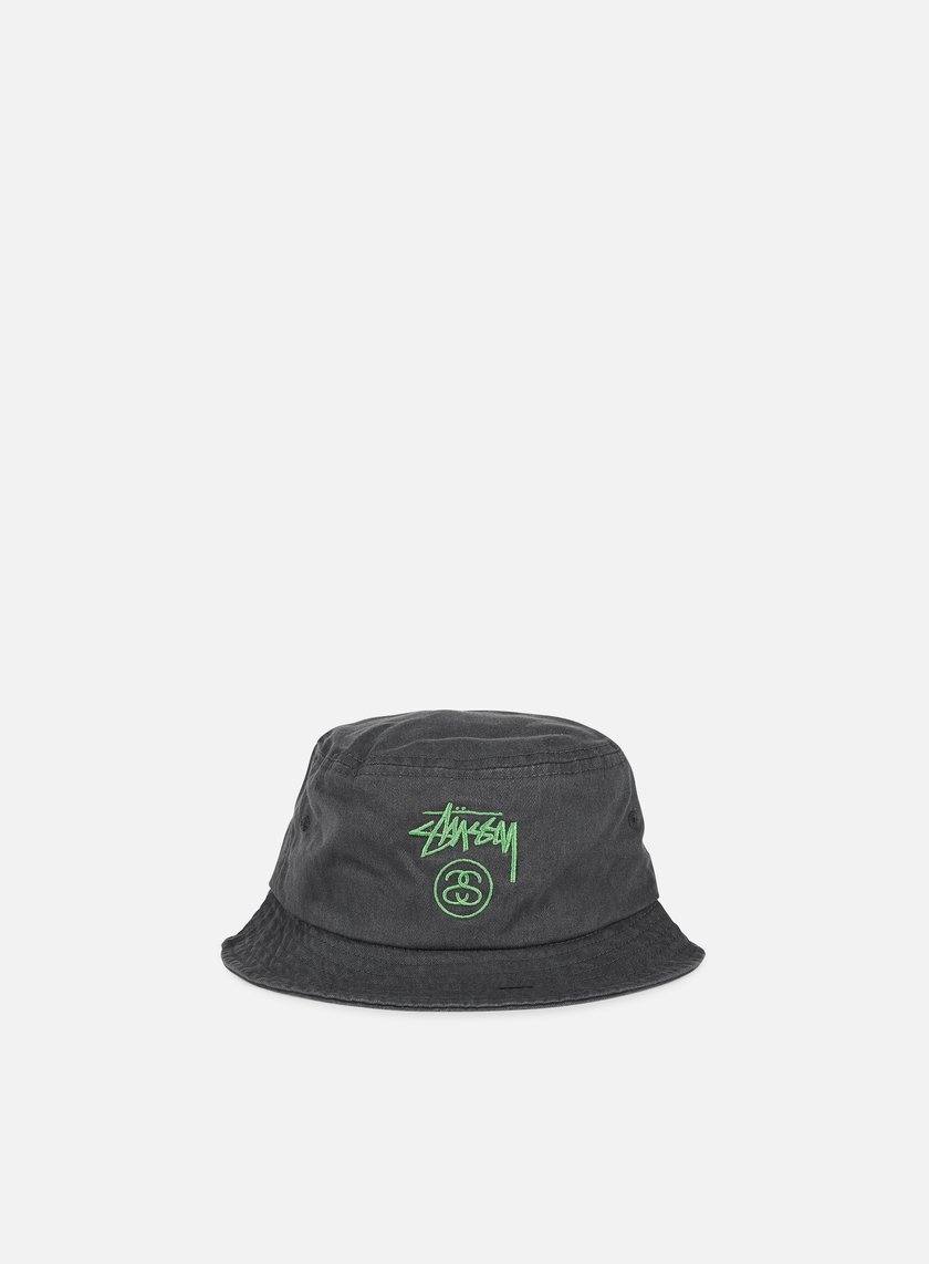 Stussy - Stock Lock Pigment Dye Bucket Hat, Black