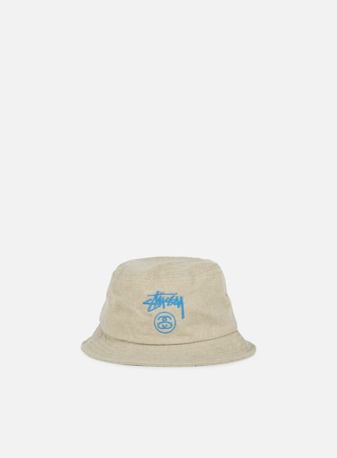cappellini stussy stock lock pigment dye bucket hat khaki