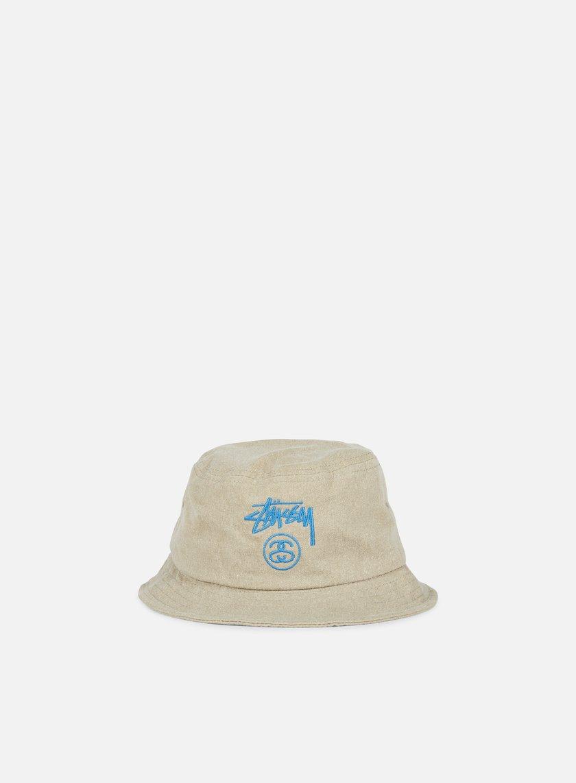 Stussy - Stock Lock Pigment Dye Bucket Hat, Khaki