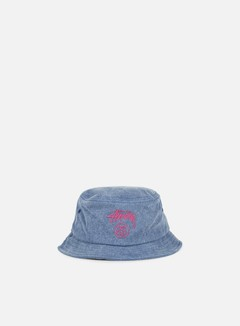 Stussy - Stock Lock Pigment Dye Bucket Hat, Navy