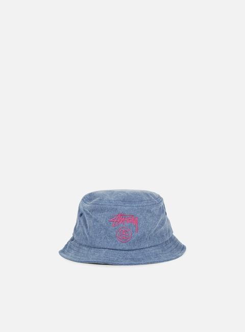 cappellini stussy stock lock pigment dye bucket hat navy
