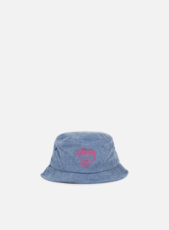 Stussy - Stock Lock Pigment Dye Bucket Hat, Navy