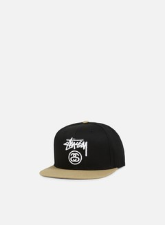Stussy - Stock Lock Snapback, Black/Light Brown