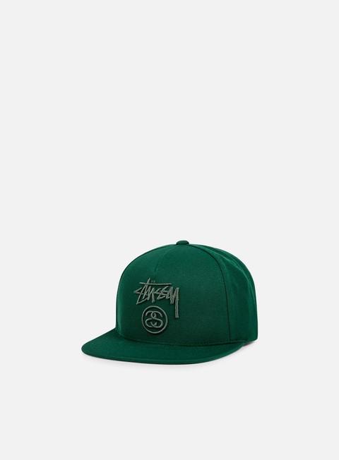 cappellini stussy stock lock snapback dark green dark green