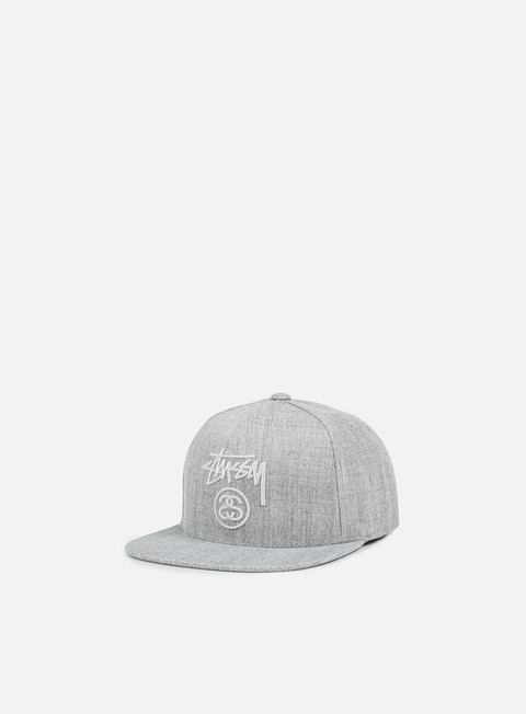 cappellini stussy stock lock snapback grey heather grey heather