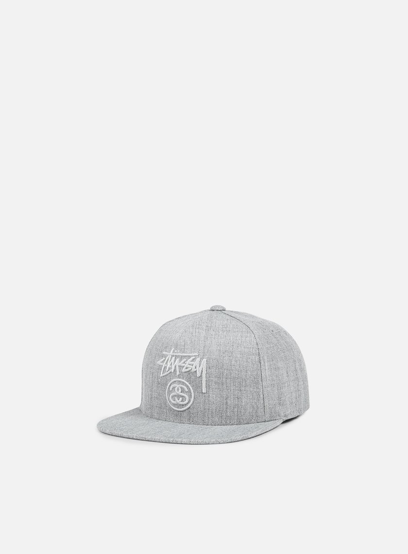 Stussy - Stock Lock Snapback, Grey Heather/Grey Heather