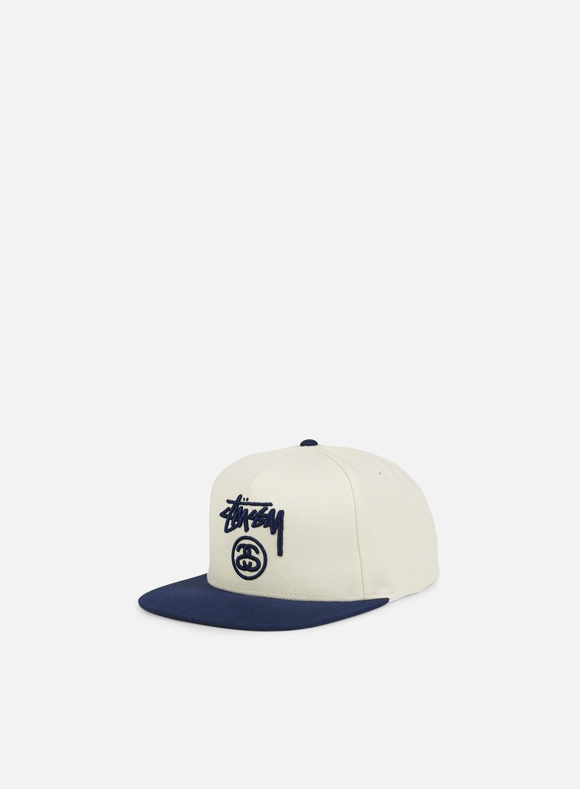 Stussy - Stock Lock Snapback, Off White/Navy