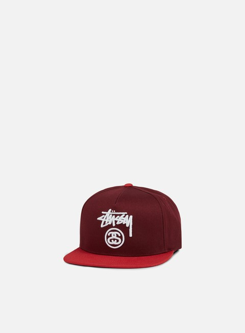 cappellini stussy stock lock snapback red red white