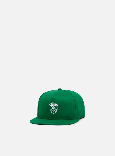 cappellini stussy stock lock su 17 snapback green white