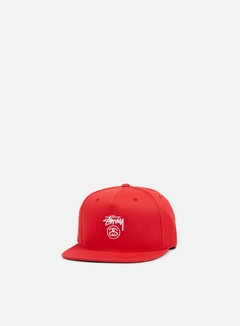 Stussy - Stock Lock SU 17 Snapback, Red/White 1
