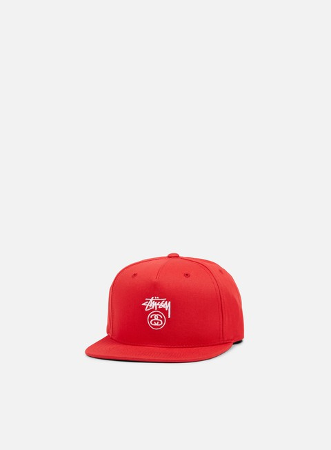 cappellini stussy stock lock su 17 snapback red white