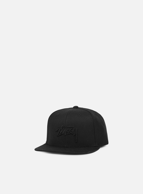 cappellini stussy stock snapback black black