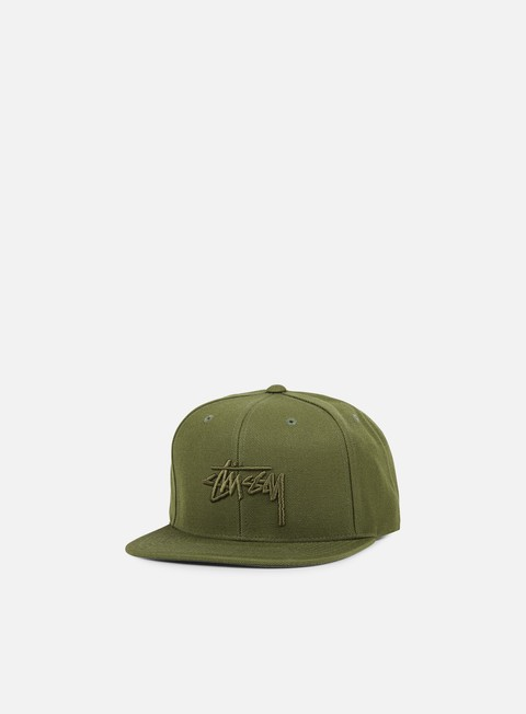 cappellini stussy stock snapback green green