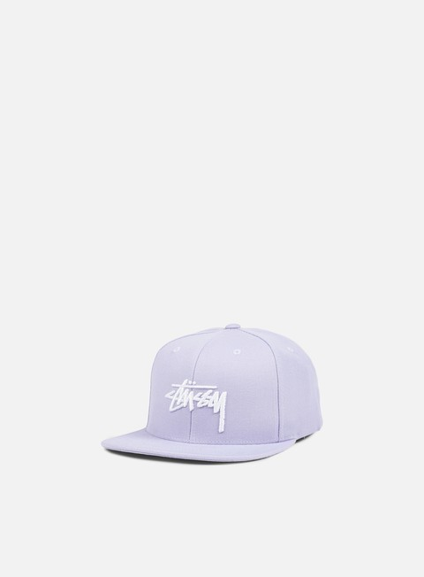 cappellini stussy stock snapback lilac white