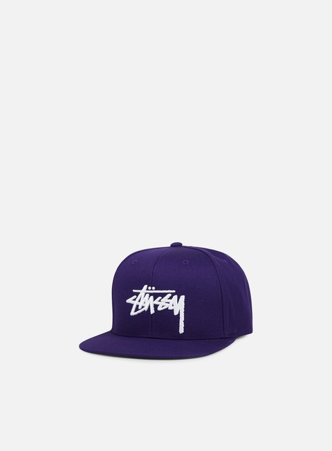 cappellini stussy stock snapback purple white