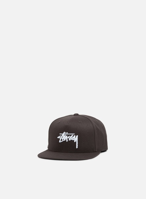 cappellini stussy stock su 17 snapback charcoal white
