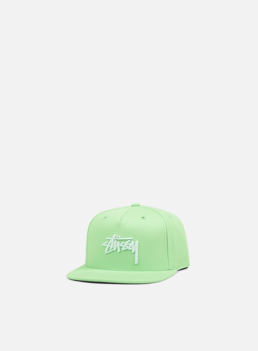 Stussy - Stock SU 17 Snapback, Lime/White