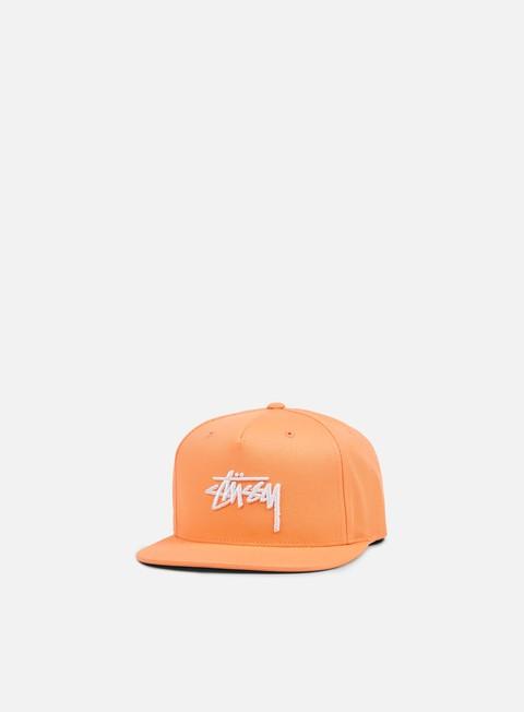 cappellini stussy stock su 17 snapback peach white