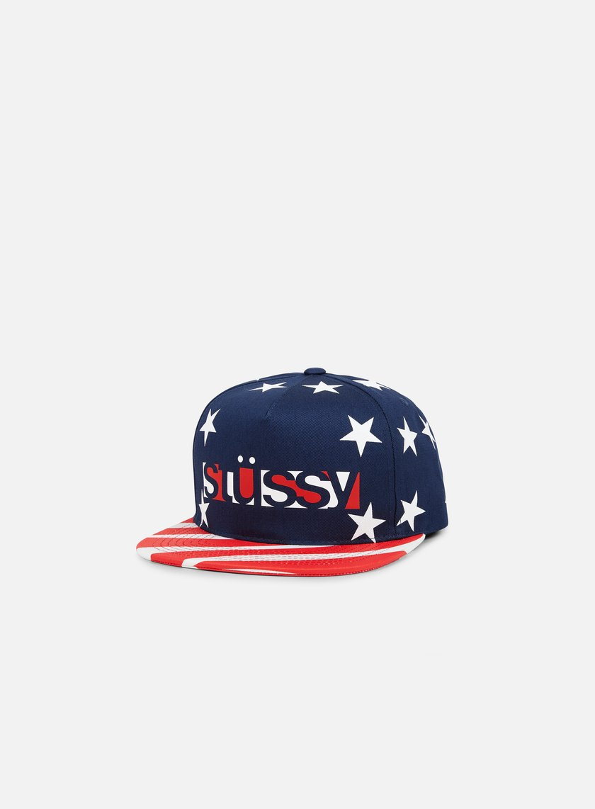 Stussy - Team Block Snapback, Navy