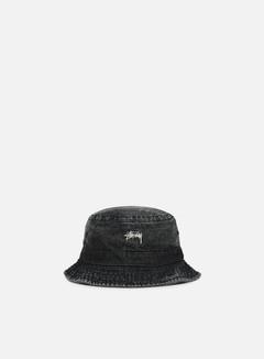 Stussy - Washed Denim Bucket Hat, Black