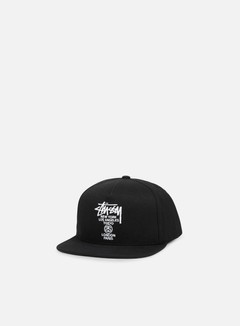 Stussy - World Tour Canvas Snapback, Black
