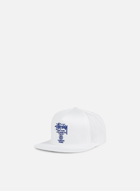 cappellini stussy world tour snapback white royal blue