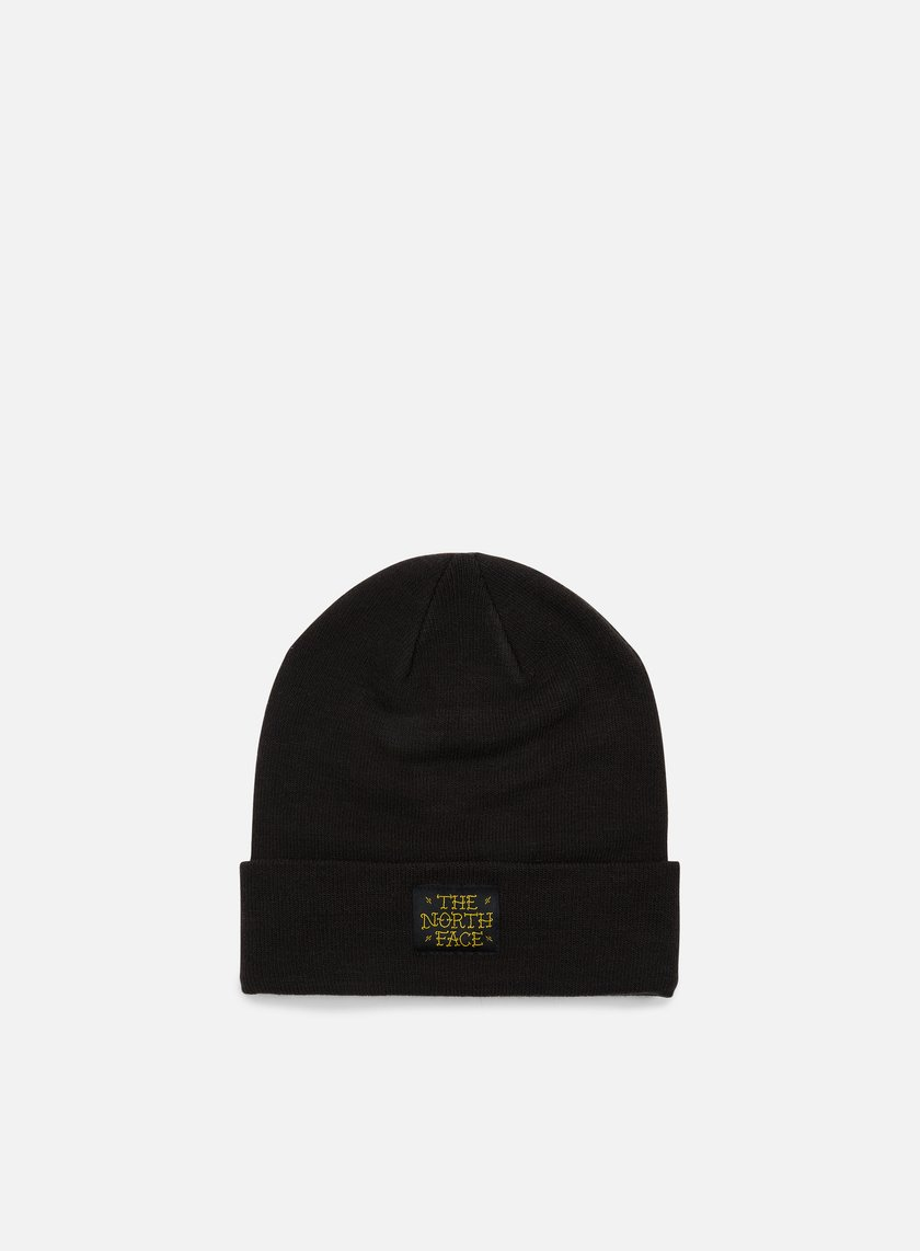 The North Face - Dock Worker Beanie, TNF Black/Arrowwood Yellow