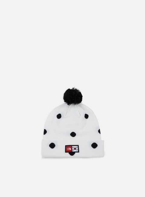 cappellini the north face international ski tuke beanie tnf white dot print