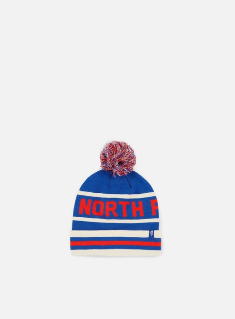cappellini the north face ski tuke v beanie bright cobalt red white