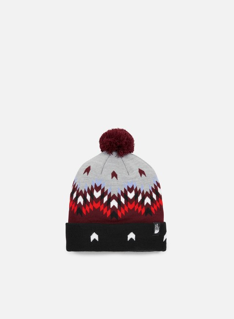 cappellini the north face ski tuke v beanie deep garnet red