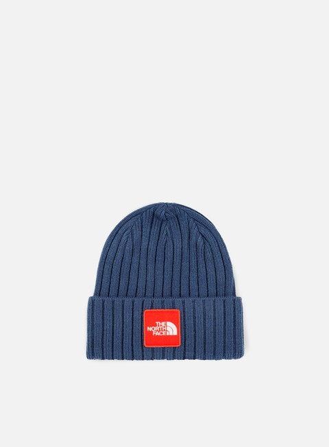 cappellini the north face tnf logo box cuffed beanie shady blue