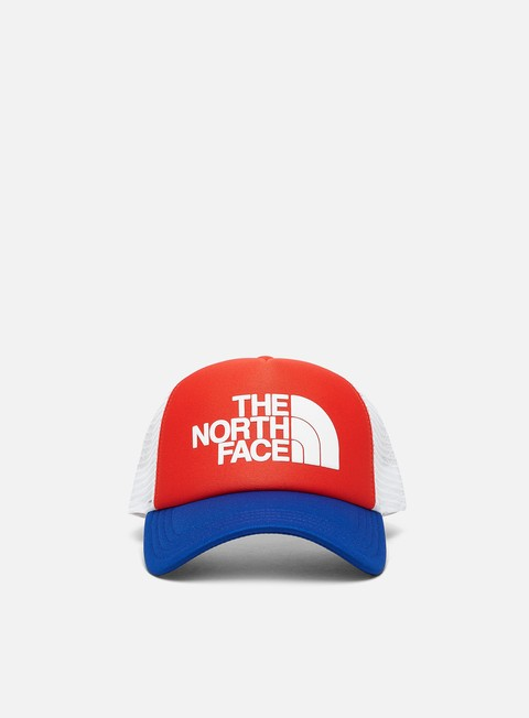 Curved Brim Caps The North Face TNF Logo Trucker Hat
