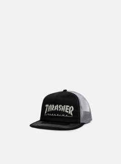 Thrasher - Embroidered Logo Trucker Cap, Black 1