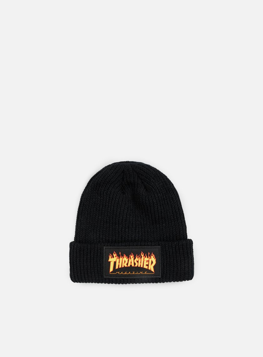 Thrasher - Flame Beanie, Black