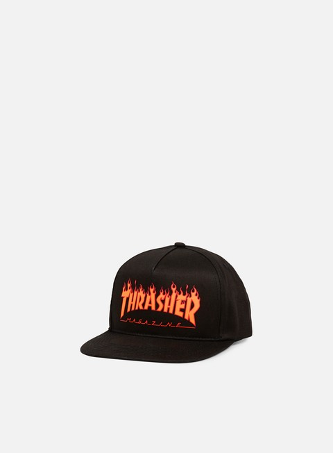 cappellini thrasher flame logo structed snapback black
