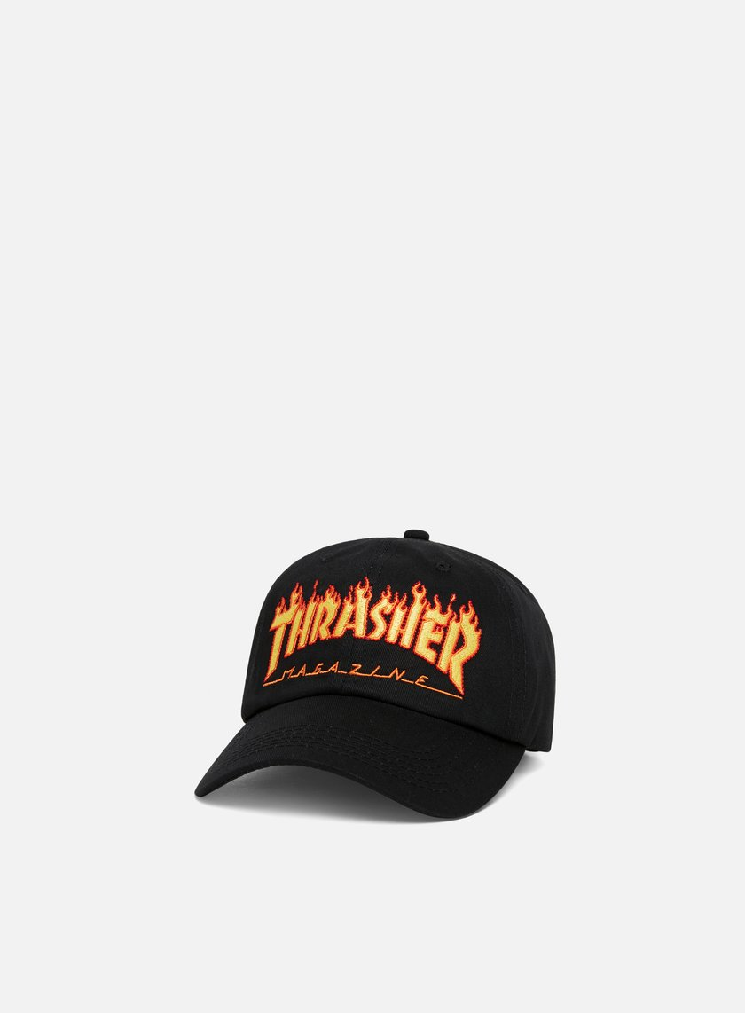THRASHER Flame Old Timer Hat € 49 Curved Brim Caps  a8800a07838