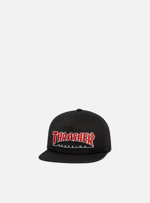 cappellini thrasher outlined snapback black