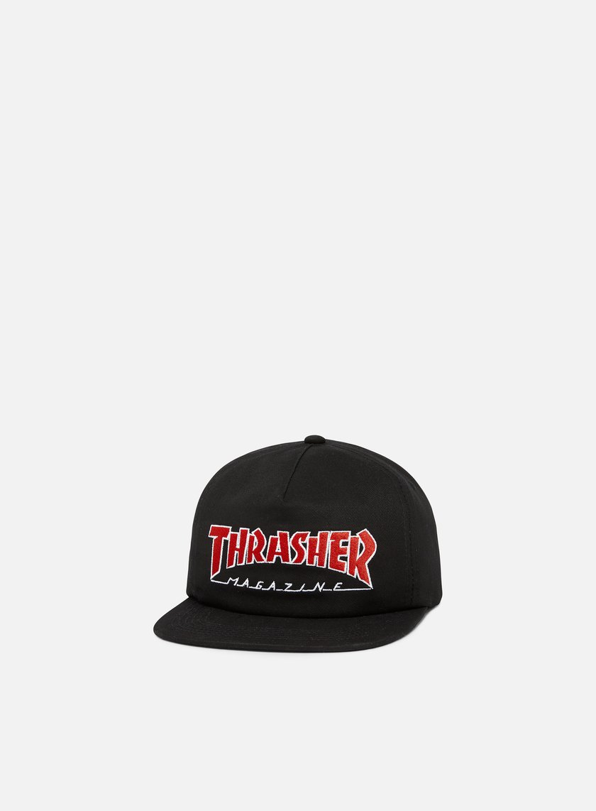 01fca032711 THRASHER Outlined Snapback € 45 Snapback Caps