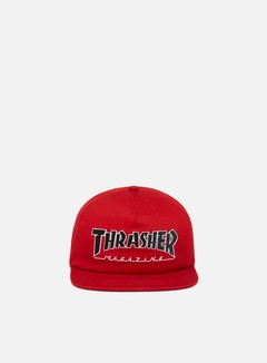 Thrasher - Outlined Snapback, Red